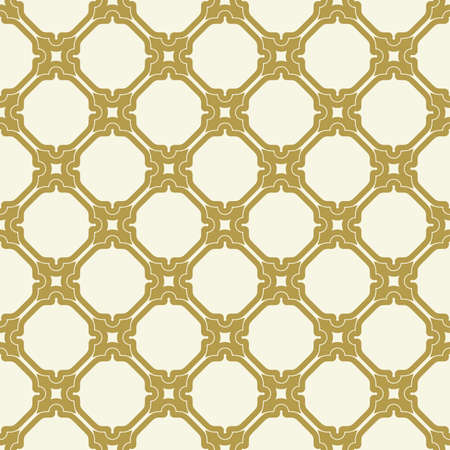 Seamless vector golden ornament in arabian style. Geometric abstract background. Pattern for wallpapers and backgrounds Vecteurs
