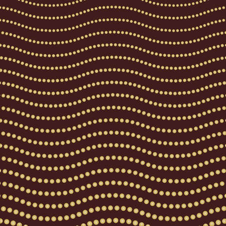 Geometric modern vector pattern. Fine ornament with dotted golden waves. Geometric abstract pattern 向量圖像