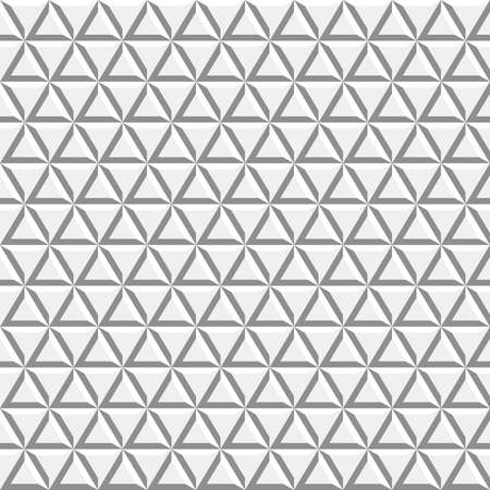 Seamless vector background. Modern ornament with volume repeating triangles. Geometric pattern 向量圖像