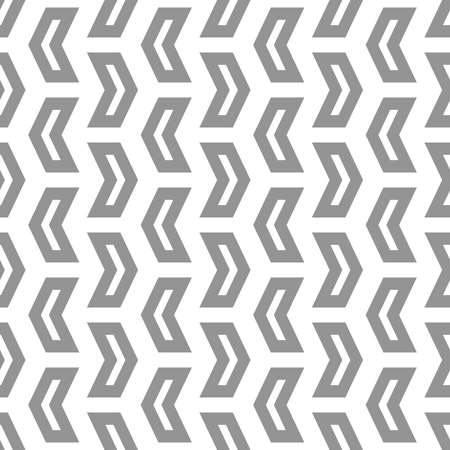 Geometric vector pattern with gray arrows. Geometric modern ornament. Seamless abstract background 向量圖像