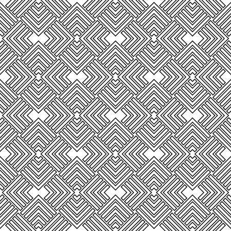 Geometric abstract vector pattern. Geometric modern black and white ornament. Seamless modern black and white background