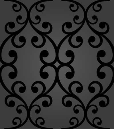 Classic seamless vector pattern. Damask orient black ornament. Classic vintage background. Orient dark ornament for fabric, wallpaper and packaging