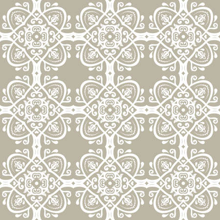Orient vector classic golden white pattern. Seamless abstract background with vintage elements. Orient background. Ornament for wallpaper and packaging 向量圖像