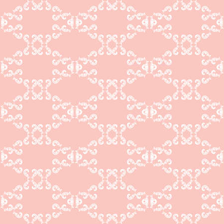 Seamless vector ornament. Modern background. Geometric modern pink and white pattern Illustration