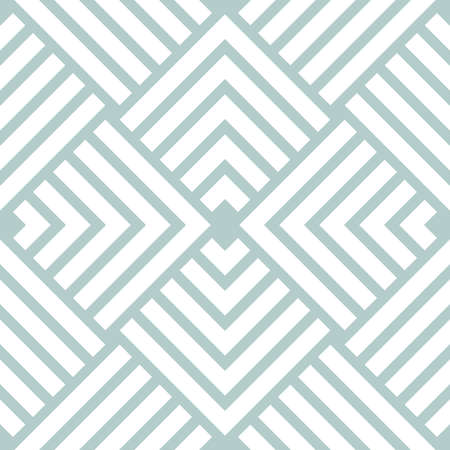 Geometric abstract vector white pattern. Geometric modern ornament. Seamless modern light blue and white background