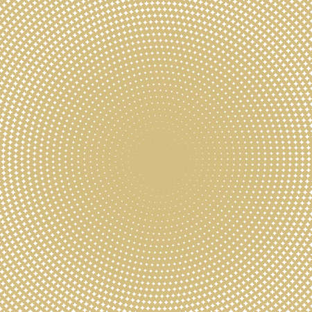 Geometric modern vector pattern. Golden and white ornament with dotted elements. Geometric abstract pattern with white stars