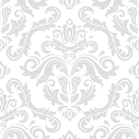 Classic seamless vector light pattern. Damask orient ornament. Classic vintage light background. Orient ornament for fabric, wallpaper and packaging