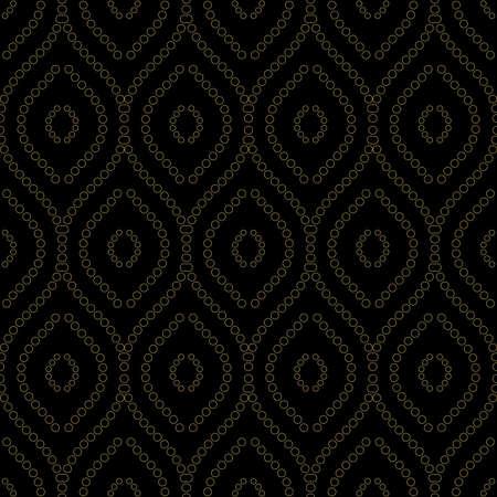 Seamless vector golden ornament. Modern background. Geometric modern pattern with golden circles 向量圖像