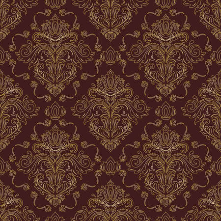 Orient vector classic pattern. Seamless abstract background with vintage golden elements. Orient golden background. Ornament for wallpaper and packaging