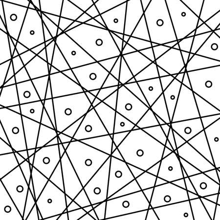 Geometric black and white vector abstract pattern with diagonal lines. Geometric modern black and white ornament for designs and backgrounds
