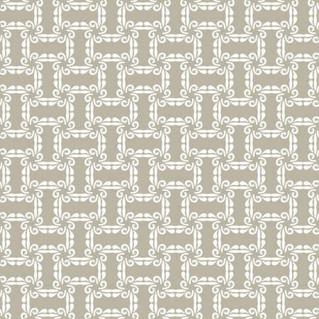 Floral vector ornament. Seamless abstract classic background with flowers. White pattern with repeating floral elements. Ornament for fabric, wallpaper and packaging