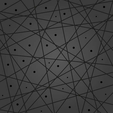 Geometric vector abstract black pattern. Geometric modern ornament for designs and backgrounds 向量圖像