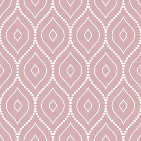 Seamless vector ornament. Modern background. Geometric modern purple and white dotted pattern