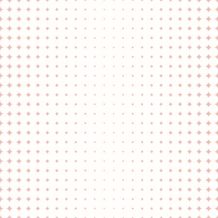 Seamless geometric vector pattern. Modern ornament with pink stars. Geometric abstract pattern
