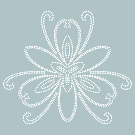 Floral white vector pattern with arabesques. Abstract oriental ornament. Vintage classic pattern