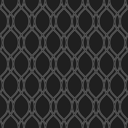 Seamless ornament. Modern background. Geometric modern black and white wavy pattern Banque d'images