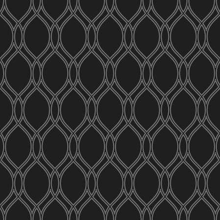 Seamless ornament. Modern background. Geometric modern black and white wavy pattern Imagens