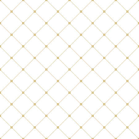 Geometric dotted golden pattern. Seamless abstract modern texture for wallpapers and backgrounds