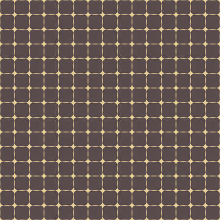 Geometric vector grid. Seamless fine abstract pattern. Modern brown and golden background