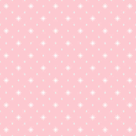 Seamless geometric vector pink and white pattern. Modern ornament with dotted elements. Geometric abstract pattern Ilustración de vector