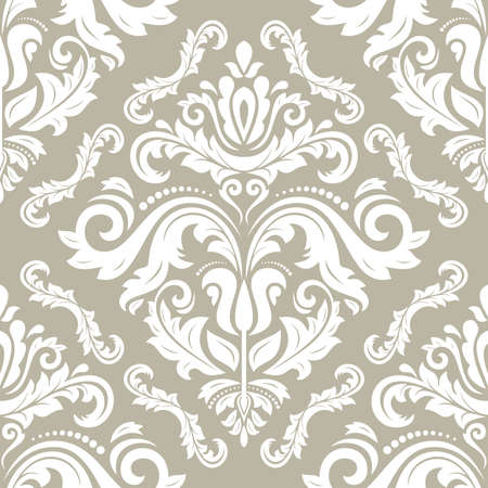 Orient vector classic golden and white pattern. Seamless abstract background with vintage elements. Orient background. Ornament for wallpaper and packaging