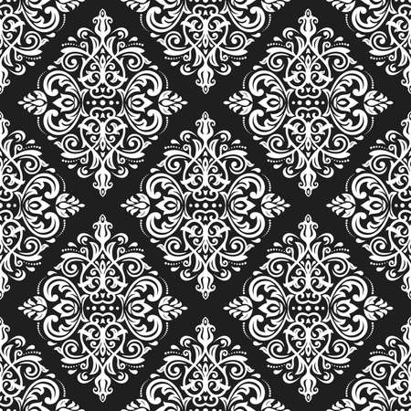 Orient vector classic pattern. Seamless abstract dark background with vintage elements. Orient background. Ornament for wallpaper and packaging 向量圖像