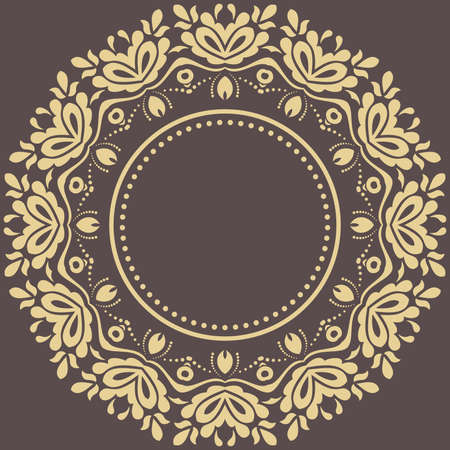 Elegant vintage vector ornament in classic style. Abstract traditional pattern with oriental elements. Classic vintage pattern