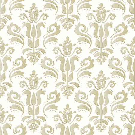 Orient Damask Seamless Vector Background With Arabesques Vector Illustratie