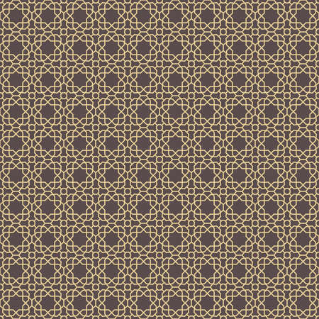 Seamless Geometric Brown and Golden Background