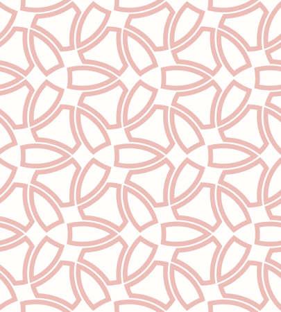Geometric Seamless Light Pink Pattern