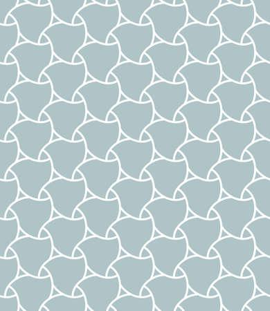 Geometric Seamless Light Blue and White Pattern