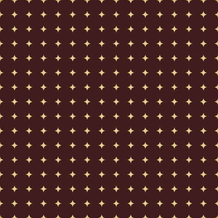 Seamless Modern Pattern With Golden Stars