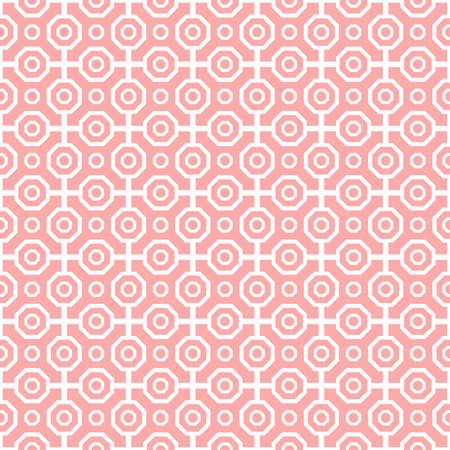 Modern Seamless Dotted Pink Pattern Stockfoto