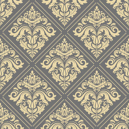 Classic seamless pattern. Damask orient ornament. Classic vintage golden background. Orient ornament for fabric, wallpaper and packaging