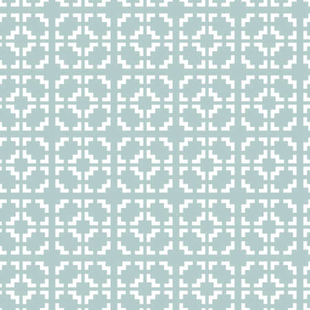 Seamless background for your designs. Modern white ornament. Geometric abstract pattern Stockfoto