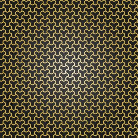 Seamless black and golden ornament. Modern background. Geometric modern pattern