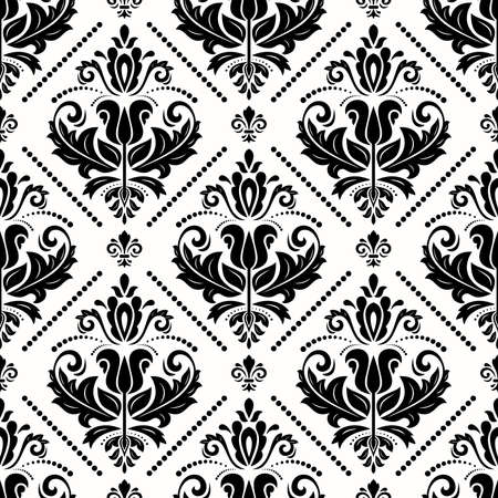 Classic seamless pattern. Damask orient ornament. Classic vintage background. Orient black and white ornament for fabric, wallpaper and packaging