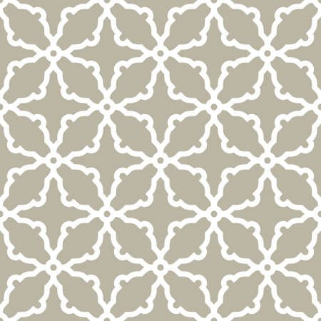 Seamless ornament in arabian style. Geometric abstract light background. Pattern for wallpapers and backgrounds