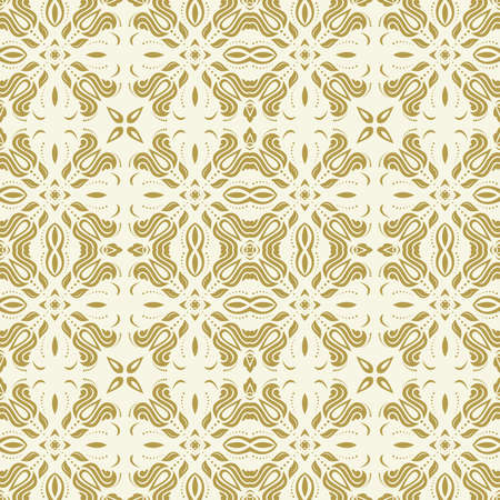 Orient classic pattern. Seamless abstract golden background with vintage elements. Orient background. Ornament for wallpaper and packaging