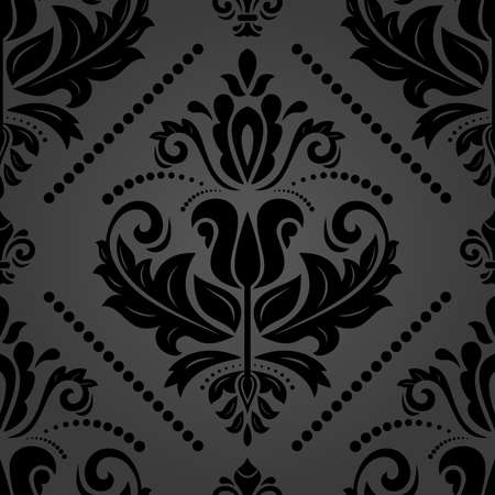 Orient classic pattern. Seamless abstract dark background with vintage elements. Orient background. Ornament for wallpaper and packaging Stockfoto