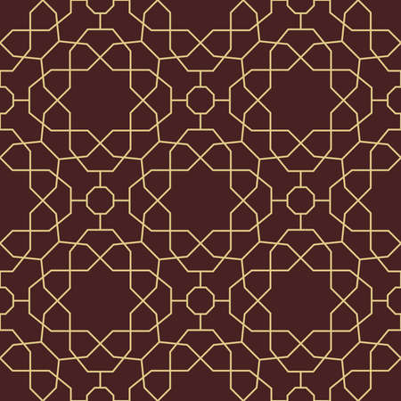 Seamless background for your designs. Modern ornament. Geometric abstract brown and golden pattern