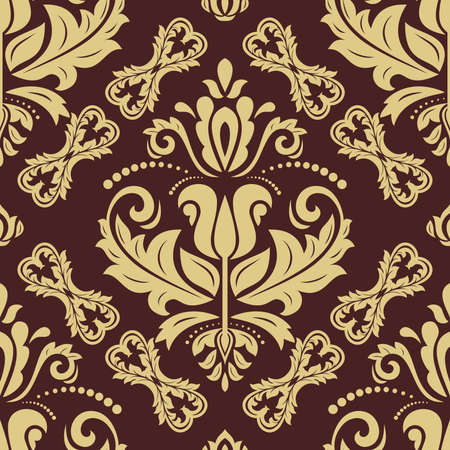Orient vector classic golden pattern. Seamless background with vintage elements. Orient background. Ornament for wallpaper and packaging
