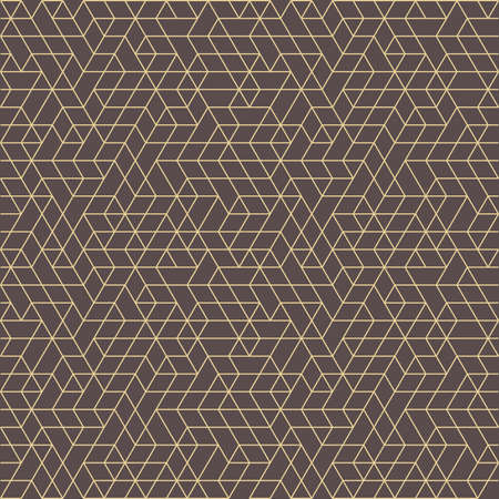 Seamless background for your designs. Modern vector brown and golden ornament. Geometric abstract pattern Stock Illustratie