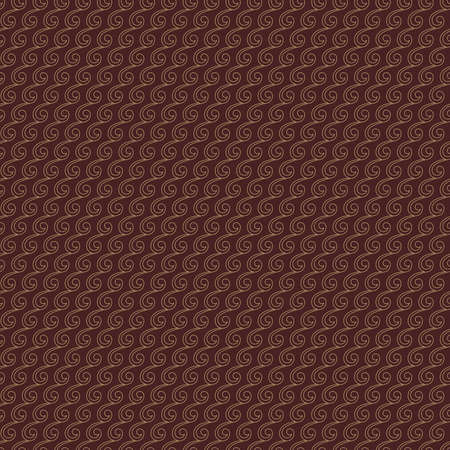 Seamless vector ornament. Modern background. Geometric modern brown and golden pattern Stock Illustratie