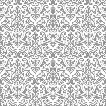 Orient vector classic silver pattern. Seamless abstract background with vintage elements. Orient background. Ornament for wallpaper and packaging