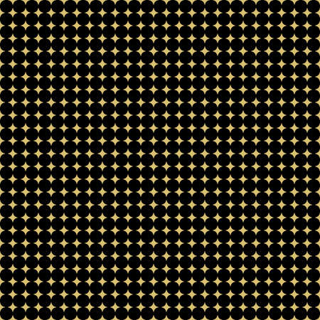Seamless geometric vector pattern. Modern ornament with golden stars. Geometric abstract golden pattern