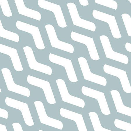 Geometric vector pattern with light blue and white arrows. Geometric modern ornament. Seamless abstract background Stock Illustratie