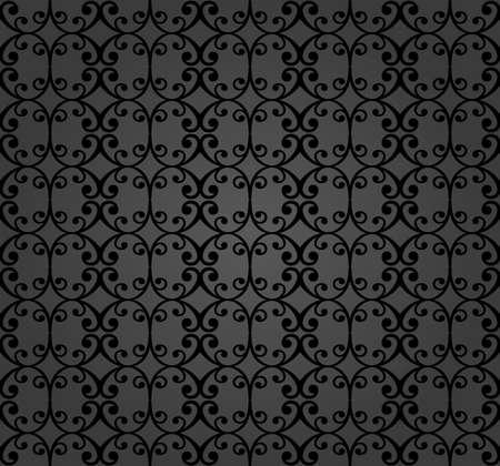 Seamless vector ornament. Modern background. Geometric modern dark pattern Stock Illustratie