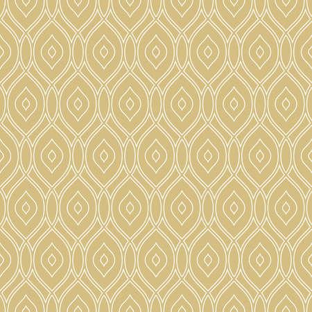 Seamless ornament. Modern background. Geometric modern golden and white pattern Stockfoto