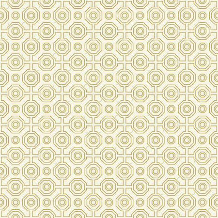 Geometric abstract octagonal golden and white background. Geometric abstract ornament. Seamless modern pattern